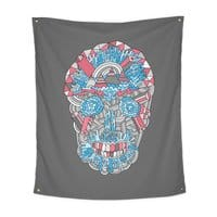 Anatomy of a Skull - indoor-wall-tapestry-vertical - small view