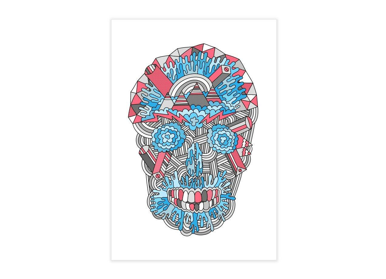 Anatomy of a Skull by Tim Easley | Vertical Print Threadless
