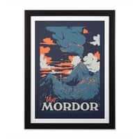 Visit Mordor - black-vertical-framed-print - small view
