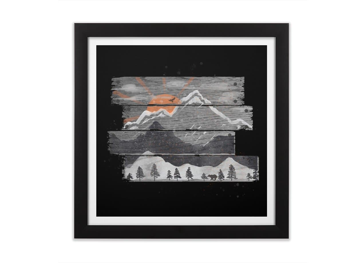 Into The Grey By Nd Tank Black Square Framed Print Threadless