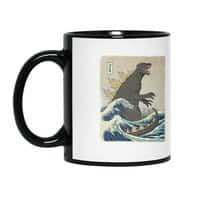 The Great Monster Off Kanagawa - black-mug - small view