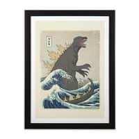 The Great Monster Off Kanagawa - black-vertical-framed-print - small view