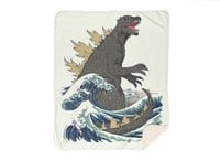 The Great Monster Off Kanagawa - blanket - small view