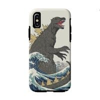 The Great Monster Off Kanagawa - double-duty-phone-case - small view