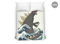 The Great Monster Off Kanagawa - duvet-cover - small view