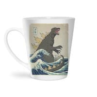 The Great Monster Off Kanagawa - latte-mug - small view