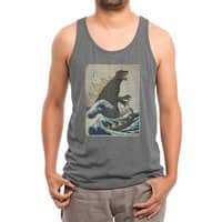 The Great Monster Off Kanagawa - mens-triblend-tank - small view