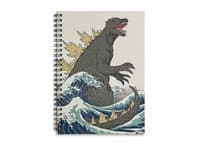 The Great Monster Off Kanagawa - spiral-notebook - small view