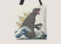 The Great Monster Off Kanagawa - tote-bag - small view