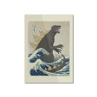 The Great Monster Off Kanagawa - vertical-mounted-aluminum-print - small view