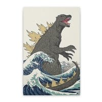 The Great Monster Off Kanagawa - vertical-stretched-canvas - small view