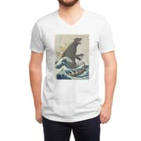The Great Monster Off Kanagawa - vneck - small view