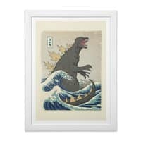 The Great Monster Off Kanagawa - white-vertical-framed-print - small view