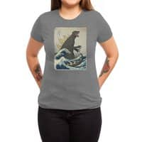 The Great Monster Off Kanagawa - womens-triblend-tee - small view