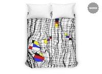 Drunk Mondrian - duvet-cover - small view