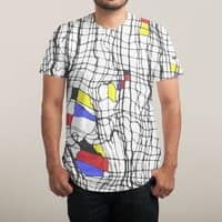 Drunk Mondrian - mens-sublimated-triblend-tee - small view