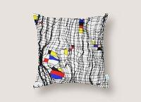 Drunk Mondrian - throw-pillow - small view