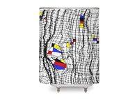 Drunk Mondrian - shower-curtain - small view
