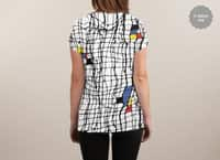 Drunk Mondrian - womens-sublimated-v-neck - small view