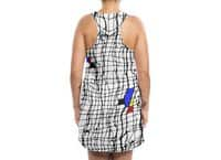 Drunk Mondrian - womens-sublimated-tank-dress - small view
