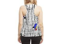 Drunk Mondrian - womens-sublimated-racerback-tank - small view
