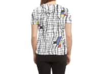 Drunk Mondrian - womens-sublimated-triblend-tee - small view