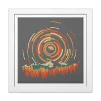 The Geometry of Sunrise - white-square-framed-print - small view