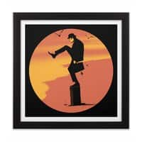 Silly Karate - black-square-framed-print - small view
