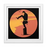 Silly Karate - white-square-framed-print - small view