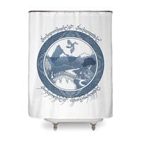 There And Back Again - shower-curtain - small view