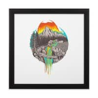 Melting Sun - black-square-framed-print - small view
