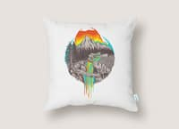Melting Sun - throw-pillow - small view