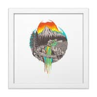 Melting Sun - white-square-framed-print - small view