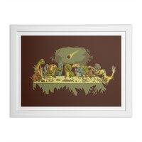 The Last Supper - white-horizontal-framed-print - small view