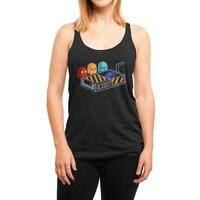 Ghost Busted - womens-triblend-racerback-tank - small view