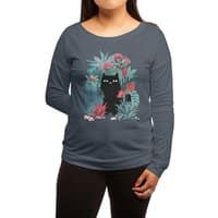 Popoki - womens-long-sleeve-terry-scoop - small view