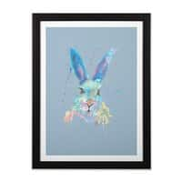 Mr. Bunny - black-vertical-framed-print - small view