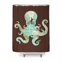 All Around the World - shower-curtain - small view