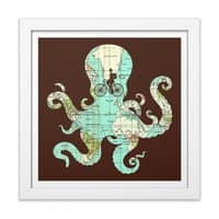 All Around the World - white-square-framed-print - small view