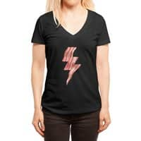 Powered by Bacon - womens-deep-v-neck - small view