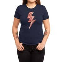 Powered by Bacon - womens-triblend-tee - small view