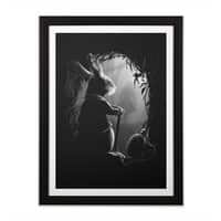 Never Too Late - black-vertical-framed-print - small view