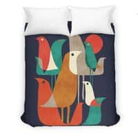 Flock of Birds - duvet-cover - small view