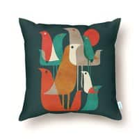 Flock of Birds - throw-pillow - small view