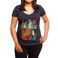 Flock of Birds - womens-deep-v-neck - small view