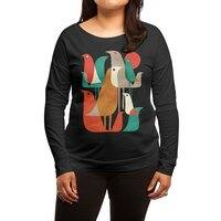 Flock of Birds - womens-long-sleeve-terry-scoop - small view