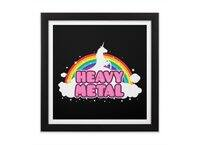 HEAVY METAL! - black-square-framed-print - small view
