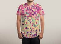 Pink Triangle Print - mens-sublimated-tee - small view