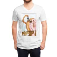 A Donut Eating Cop - vneck - small view