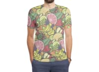 Fruit Print - mens-sublimated-triblend-tee - small view